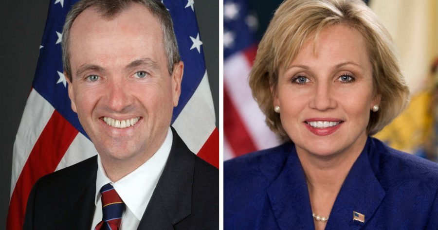 Phil Murphy and Kim Guadagno