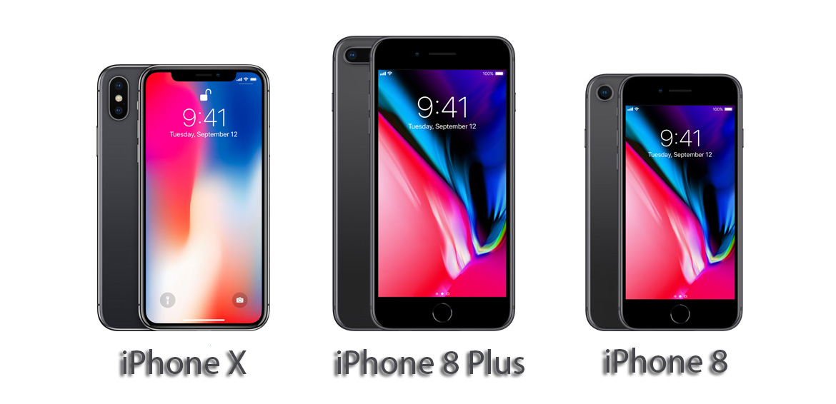 iPhone X, 8, and 8 Plus Credit: wcctech