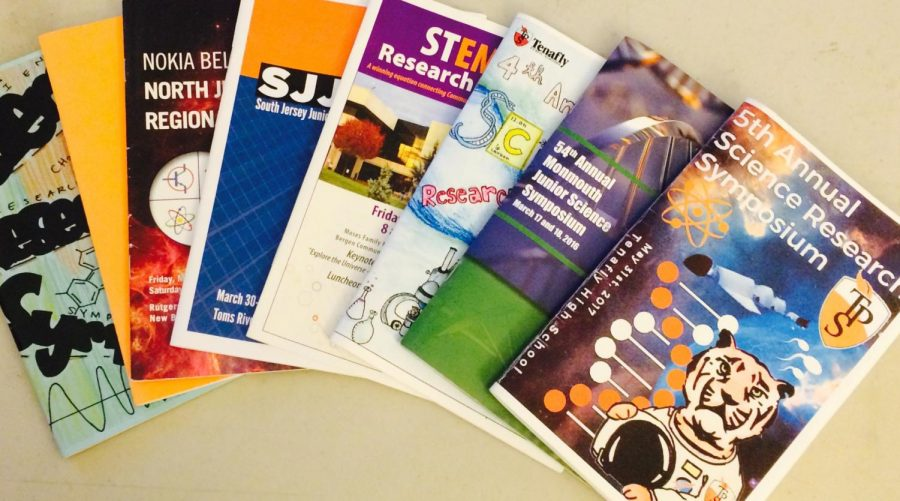 Several symposium and science competition booklets