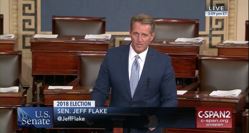 A Profile in Courage: Jeff Flake's Contribution to Democracy