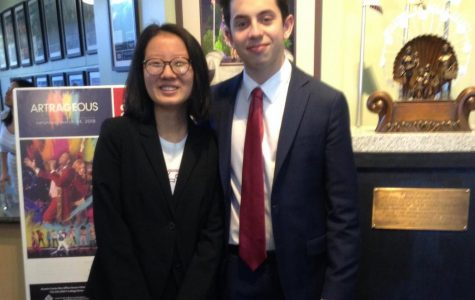 Ahri Han ('18) and Lucas Goldman ('19), left to right respectively