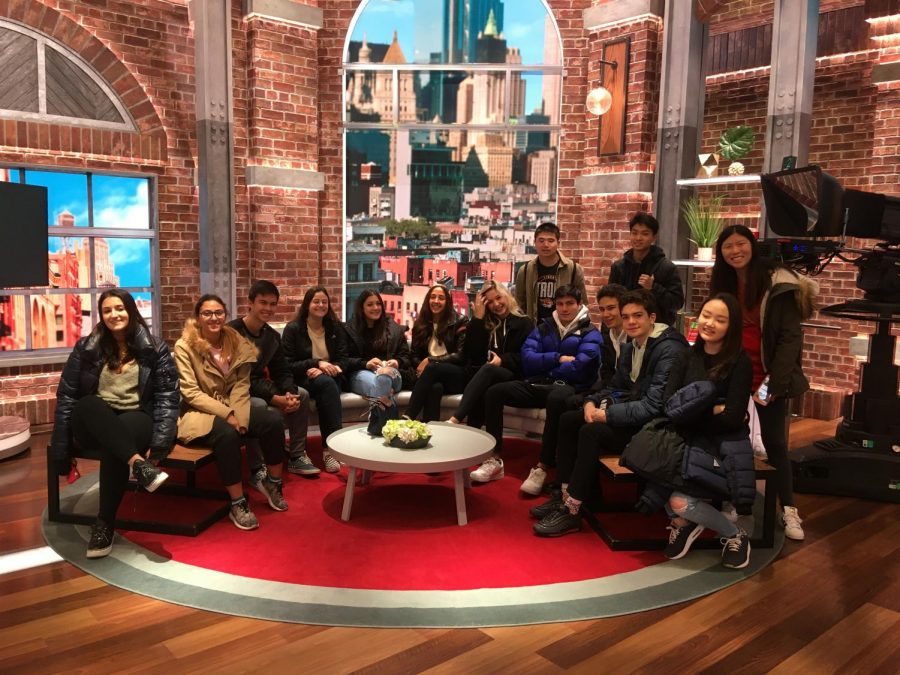 The Journalism class in the New Day studio at CNN in New York.