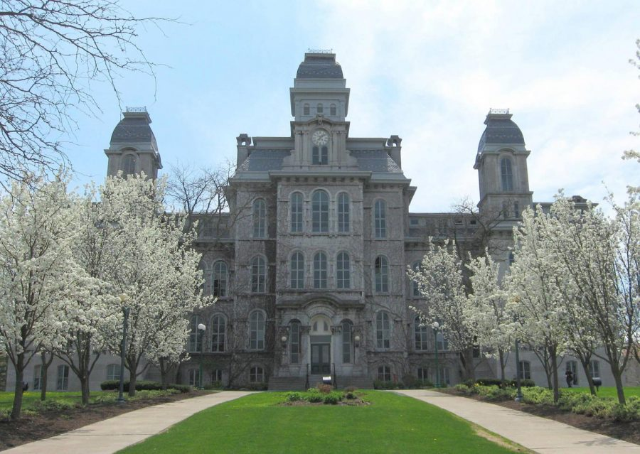 The Outside of the Hall of Languages at Syracuse University.  Photo Credit: wikimedia.org https://commons.wikimedia.org/wiki/File:Hall-of-Languages-Syracuse-Univ-2014.jpg