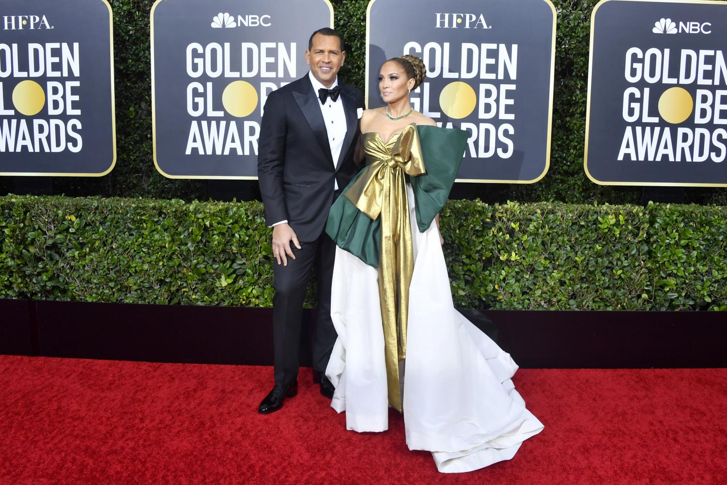 Jennifer Lopez and A-Rod at the Golden Globes Photo: Forbes