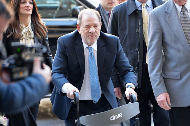 (Photo Credit: nypost.com) Still image of Harvey Weinstein entering his trial on a walker.