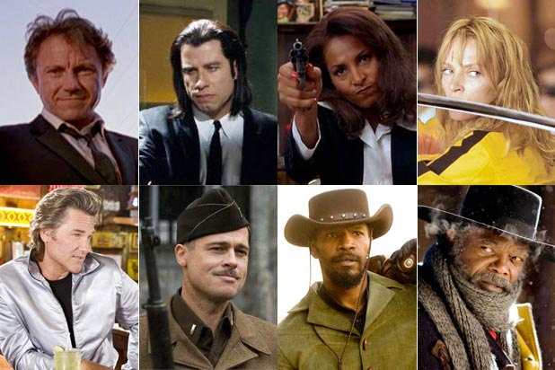 All of the characters in Quentin Tarantino's filmography.