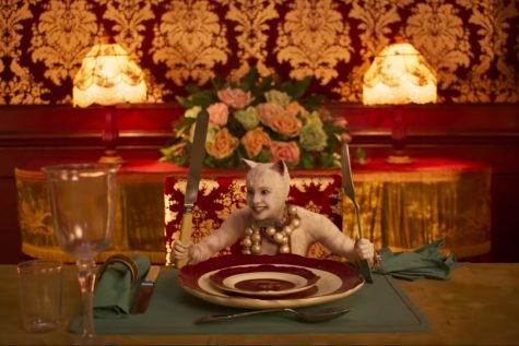 A very frightening and unnerving still image from the film Cats.