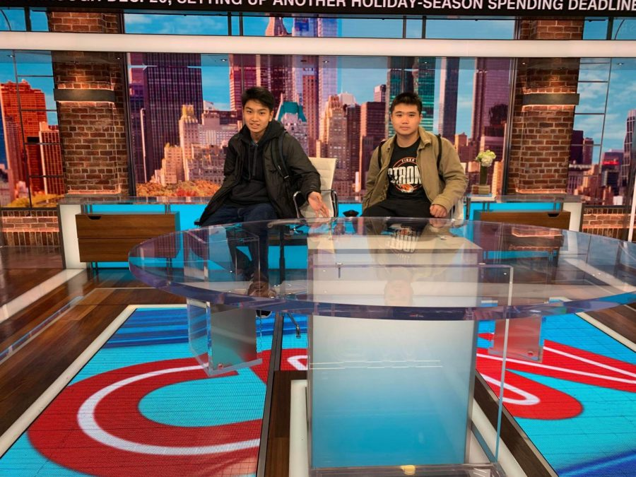 Dohi and I at CNN's 'New Day' Studio.