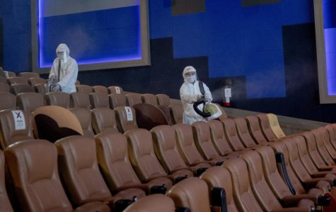 How movie theaters could possibly be cleaned when they reopen.