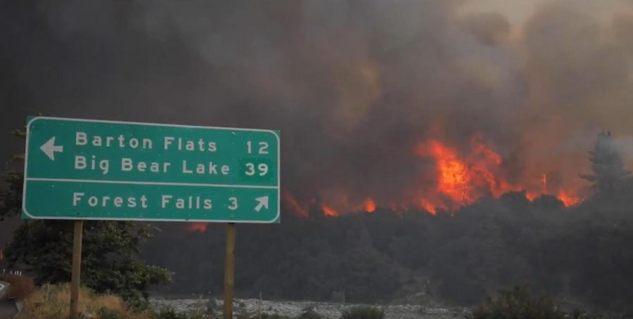 The San Bernardino County Fire Department attempts to Combat the El Dorado Fire