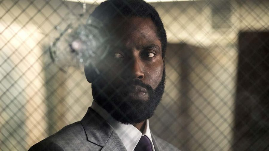 John David Washington in a still image for the film Tenet