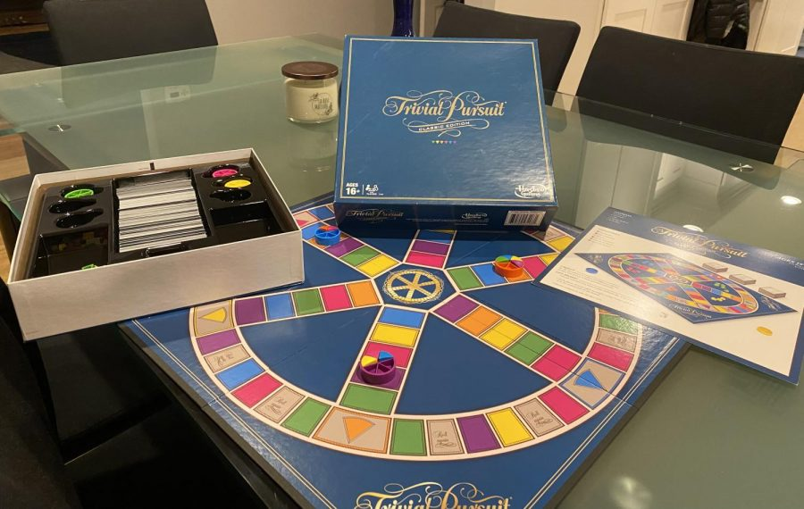 The Game Set-Up of the 2016 Classic Version of Trivial Pursuit.