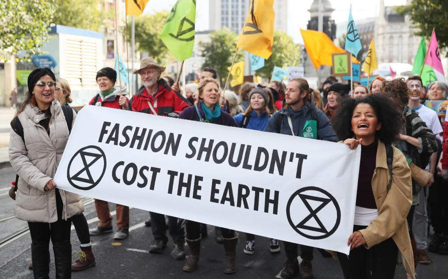 Protesters of fast fashion. Photo: Creative Commons; Pursuit website, University of Melbourne.