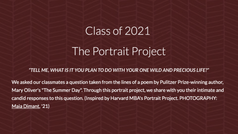 The Class of 2021 Publishes The Portrait Project