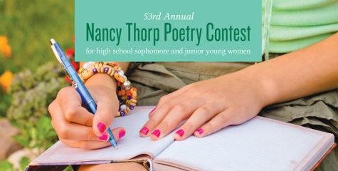 Junior Rebecca Beaver Wins an Honorable Mention in Nancy Thorp Poetry Contest
